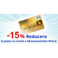 Vesti bune in noul an: 15% reducere la abonamentele RisCo!