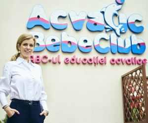Afaceri de 1 milion de lei in 2019 pentru  Acvatic Bebe Club, locul unde bebelusii invata sa inoate