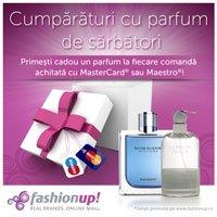 Parfum cadou pentru cumparaturi online cu MasterCard si Maestro