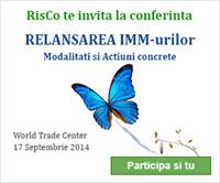 RisCo te invita la Conferinta 'Relansarea IMM-urilor: modalitati si actiuni concrete'