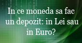 Aleg depozit in Lei sau in Euro